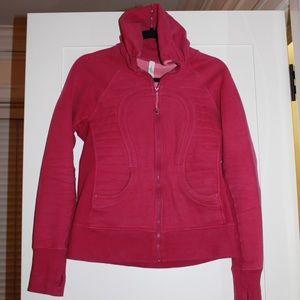 Lululemon Pink Scuba Hoodie size 8 heavy/warm